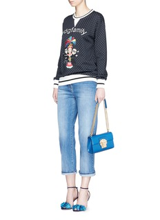 Dolce & Gabbana DG family appliqué polka dot cotton sweatshirt