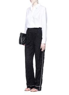 Dolce & GabbanaFloral guipure lace pyjama pants