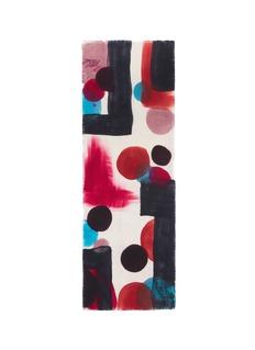 Franco Ferrari'Grido' hand painted abstract print wool scarf