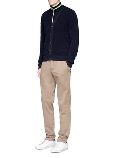 PS by Paul SmithStripe intarsia cotton blend cardigan