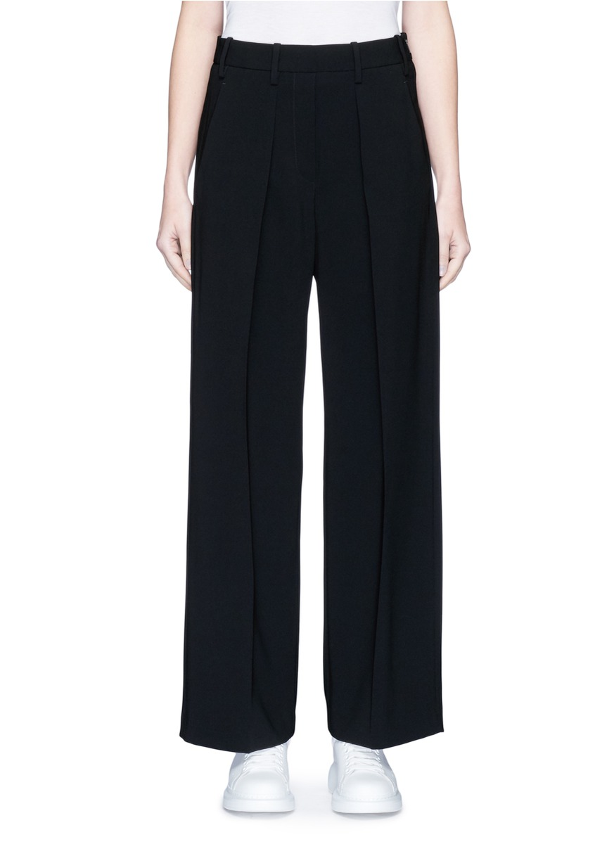 Pleated wide leg suiting pants by Neil Barrett