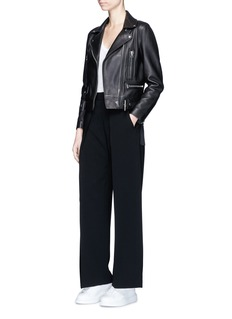 Neil Barrett Pleated wide leg suiting pants