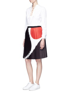 Neil Barrett 'Eames' colourblock pleated skirt
