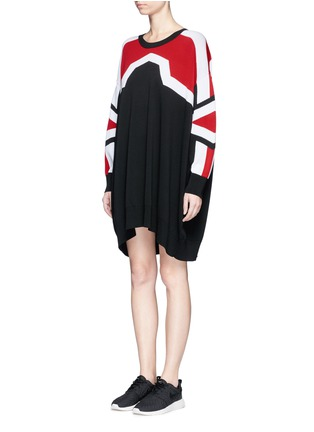Front View - Click To Enlarge - Neil Barrett - 'Minimal Cowboy' knit dress