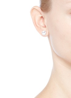 Ruifier 'Merry' sterling silver chain stud earrings