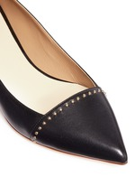 Dome stud nappa leather pumps