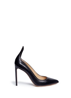 Francesco Russo Dome stud leather pumps