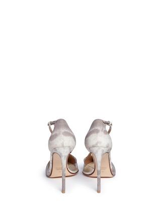 背面 - 点击放大 - FRANCESCO RUSSO - PVC拼接蛇皮高跟鞋