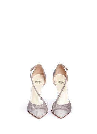 正面 -点击放大 - FRANCESCO RUSSO - PVC拼接蛇皮高跟鞋