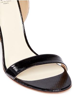 细节 - 点击放大 - FRANCESCO RUSSO - 拼色蛇皮高跟鞋