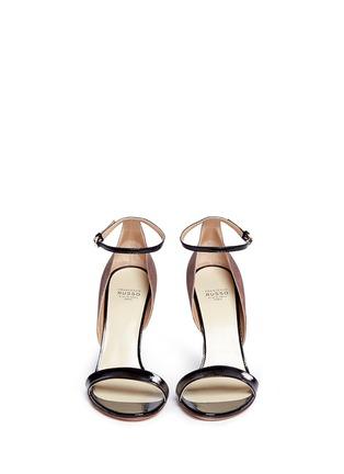 正面 - 点击放大 - FRANCESCO RUSSO - 拼色蛇皮高跟鞋
