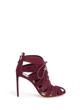 首图 - 点击放大 - FRANCESCO RUSSO - 镂空设计绒面真皮高跟凉鞋