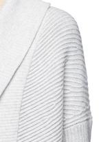Wool-cashmere circle cardigan