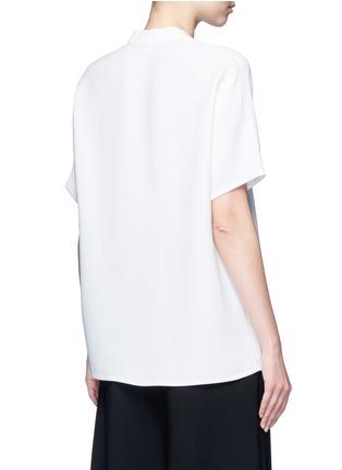 Vince-Pintuck pleat V-neck blouse