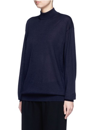 Front View - Click To Enlarge - The Row - 'Alen' cashmere-silk turtleneck sweater