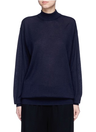Main View - Click To Enlarge - The Row - 'Alen' cashmere-silk turtleneck sweater