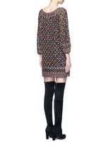 'Gillian' floral lattice embroidery tunic dress