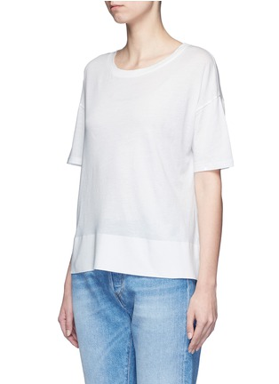Front View - Click To Enlarge - Vince - Pima cotton banded hem T-shirt