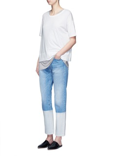 VincePima cotton banded hem T-shirt