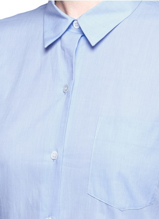 Detail View - Click To Enlarge - Theory - 'Perfect' box pleat cotton shirt