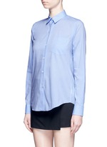 'Perfect' box pleat cotton shirt