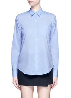 Theory'Perfect' box pleat cotton shirt