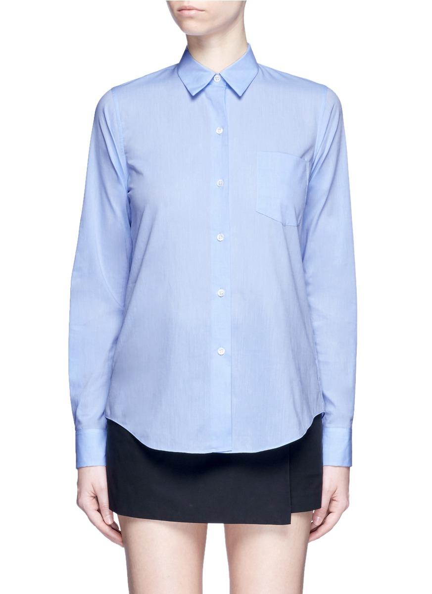 Perfect box pleat cotton shirt by Theory
