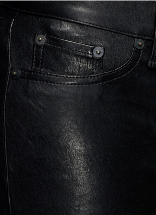 Detail View - Click To Enlarge - rag & bone/JEAN - 'Skinny' stretch lambskin leather pants