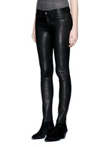 'Skinny' stretch lambskin leather pants