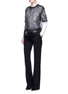 Givenchy Constellation embellished silk organza T-shirt