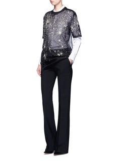 GivenchyConstellation embellished silk organza T-shirt