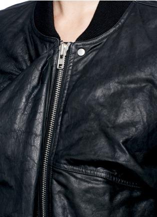 细节 - 点击放大 - RICK OWENS - 凹凸褶皱牛皮夹克
