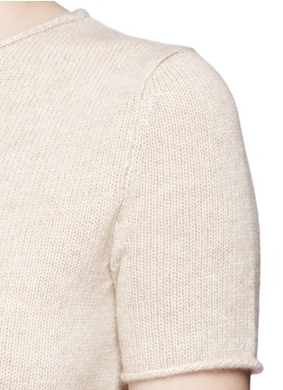 Detail View - Click To Enlarge - Theory - 'Tolleree' cashmere short sleeve sweater