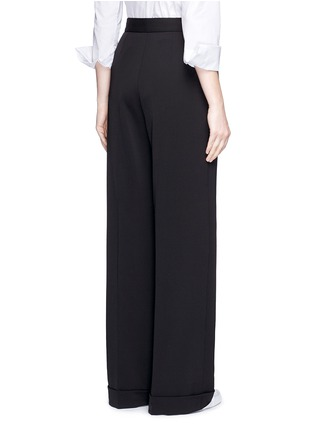 Back View - Click To Enlarge - Stella McCartney - Tailored dry wool wide leg trousers