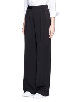 Stella McCartney-Tailored dry wool wide leg trousers