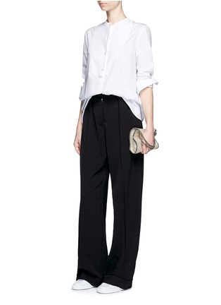 Figure View - Click To Enlarge - Stella McCartney - Tailored dry wool wide leg trousers