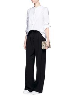 STELLA MCCARTNEYTailored dry wool wide leg trousers
