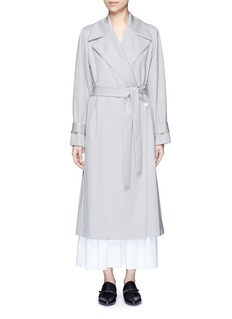 The Row 'Swells' belted gabardine coat