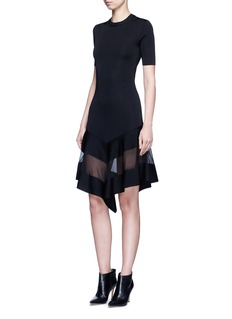 GIVENCHY Contrast mesh panel knit dress