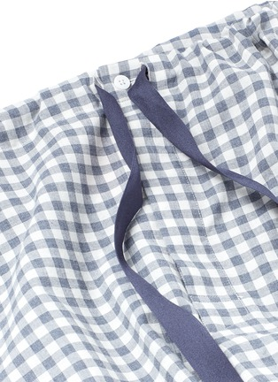 Detail View - Click To Enlarge - Araks - 'Ally' gingham check organic cotton pyjama pants
