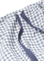 'Ally' gingham check organic cotton pyjama pants
