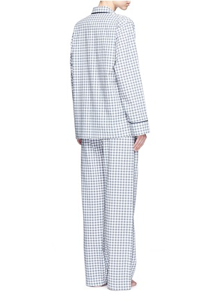 Back View - Click To Enlarge - Araks - 'Ally' gingham check organic cotton pyjama pants