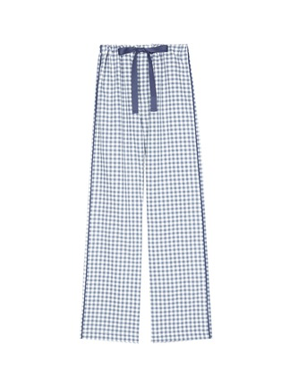 Main View - Click To Enlarge - Araks - 'Ally' gingham check organic cotton pyjama pants