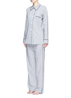 Araks 'Ally' gingham check organic cotton pyjama pants