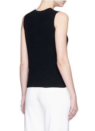 Back View - Click To Enlarge - Theory - 'Mayanly' flare hem rib knit sleeveless top
