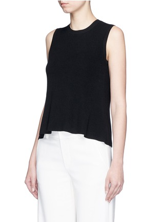 Front View - Click To Enlarge - Theory - 'Mayanly' flare hem rib knit sleeveless top