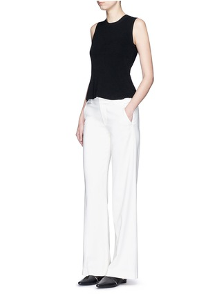 Figure View - Click To Enlarge - Theory - 'Mayanly' flare hem rib knit sleeveless top