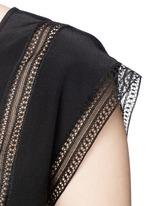 'Raballa' lace insert silk top