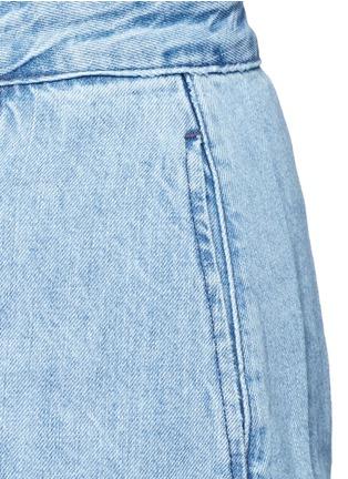 3x1-'WS' fringe hem denim skirt