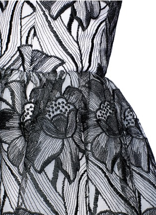Detail View - Click To Enlarge - alice + olivia - 'Izabelle' floral embroidery off-shoulder flare dress